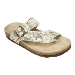 Women's White Mountain Carly Gold Exotic Print Leather