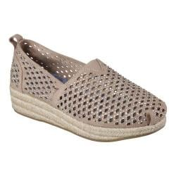 Women's Skechers BOBS Highlights Glamsquad Alpargata Taupe