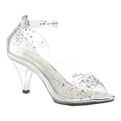 Women's Fabulicious Belle 330RS Ankle-Strap Sandal Clear PVC/Clear