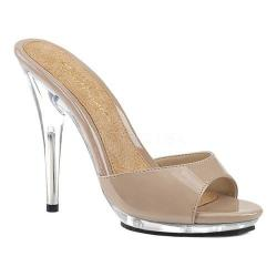 Women's Fabulicious Poise 501 Slide Nude Patent/Clear