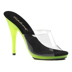 Women's Fabulicious Poise 501UV Slide Clear PVC/Neon Lime