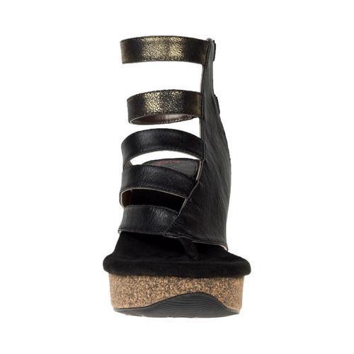 359755caedf5 ... Thumbnail Women  x27 s MODZORI Laila Thong Wedge Sandal Black-Gold Taupe