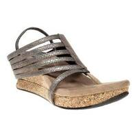 Women's MODZORI Elara Thong Sandal Grey-Silver Combo/Black Reversible