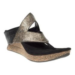 Women's MODZORI Nysa Thong Sandal Gunmetal/Black Reversible
