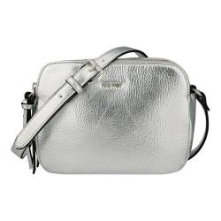 Women's Nine West Table Treasures Double Zip Crossbody Silver