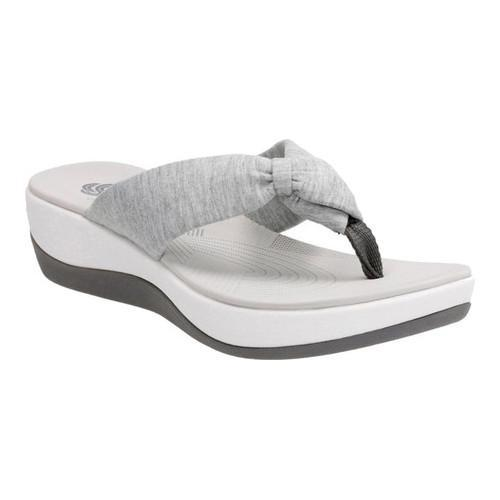 31a2de04caca Shop Women s Clarks Arla Glison Thong Sandal Grey Heather Fabric - On Sale  - Free Shipping Today - Overstock - 15236518