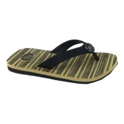 Women's Yellow Box Fee Thong Sandal Black Synthetic