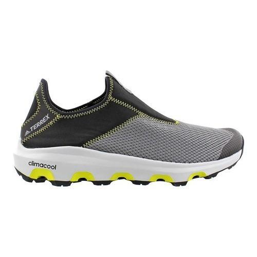 6818f03988fa Shop Men s adidas Terrex Climacool Voyager Slip On Water Shoe Vista Grey  Black Unity Lime - Free Shipping Today - Overstock - 15271749