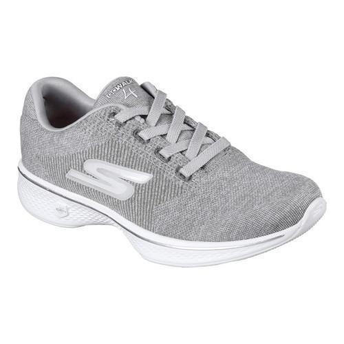 47bcf1ec8701 Shop Women s Skechers GOwalk 4 Cherish Walking Sneaker Gray - Free Shipping  Today - Overstock - 15271927