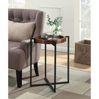 Convenience Concepts Nordic Round Tray End Table