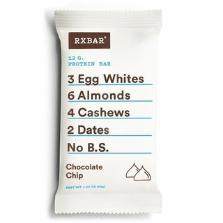 RXBar Chocolate Chip Protein Bars (Pack of 12)