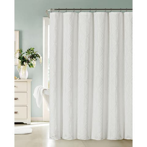 Dainty Home Romance Shower Curtain in White