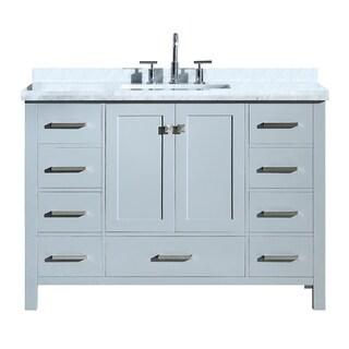 "Ariel Cambridge 49"" Single Rectangle Sink Vanity Set In Grey"