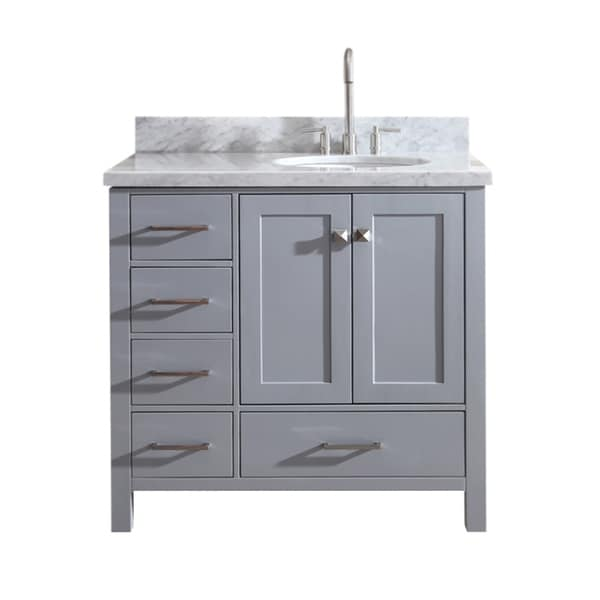 Shop ariel cambridge 37 single sink vanity set w right - Bathroom vanity with right offset sink ...