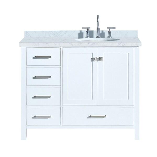 "Shop Ariel Cambridge 43"" Right Offset Single Oval Sink ..."