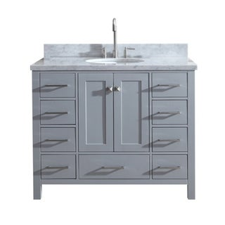 "Ariel Cambridge 43"" Single Sink Vanity Set In Grey"