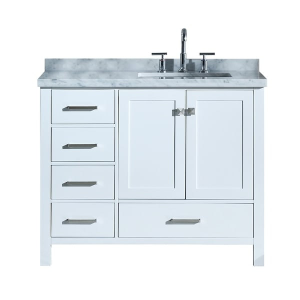 Shop ariel cambridge 43 right offset single rectangle - Bathroom vanity with right offset sink ...