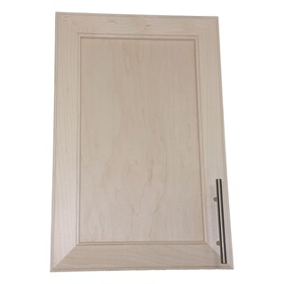 WG Wood Products Natural Pine Recessed In-the-wall Frameless Bar Pull Medicine Cabinet