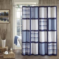 Woolrich Huntington Cotton Percale Printed Pieced Shower Curtain (2 Color Options)