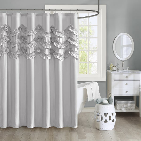 Intelligent Design Carmen Ruffle Shower Curtain 2 Color Options