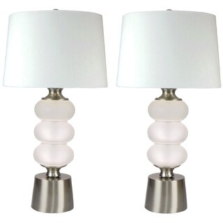 Lania Frosted Glass Set of 2 Lamps - 30-inch Height