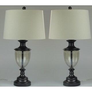Karlene Dark Black Matte Finish Table Lamp Set of 2 - 28 inches height
