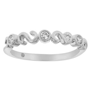 14K White Gold 1/8 carat Diamonds Semi Eternity Band Ring - White H-I|https://ak1.ostkcdn.com/images/products/18000279/P24171563.jpg?impolicy=medium
