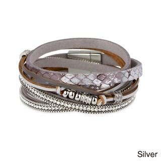 Handmade Saachi Leather Metal Beads Bracelet (China) (2 options available)