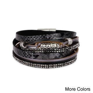 Handmade Saachi Leather Metal Beads Bracelet (China)|https://ak1.ostkcdn.com/images/products/18000291/P24171558.jpg?impolicy=medium