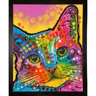 "Tilt Cat Framed Print 39.75""x31.75"" by Dean Russo- Exclusive"