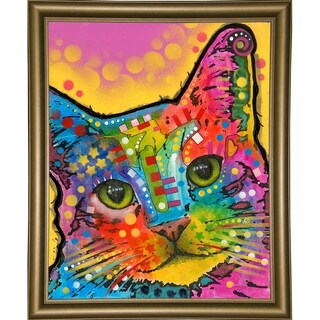 "Tilt Cat Framed Print 39.75""x31.75"" by Dean Russo- Exclusive (2 options available)"