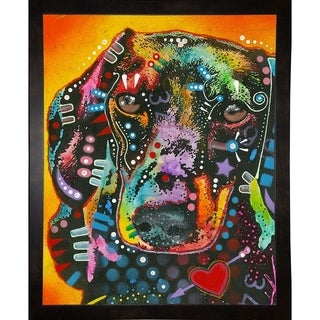 "Brilliant Dachshund Framed Print 39.5""x31.75"" by Dean Russo- Exclusive (Option: Clear)"