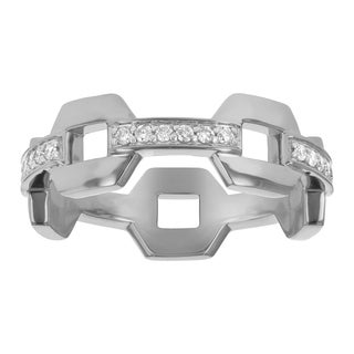 Eternity Ring in 10K White Gold and 1/4 carat White Diamonds - White H-I