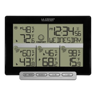 La Crosse Technology 308-1412-3TX 3 Channel Wireless Weather Station with 3 included transmitting sensors