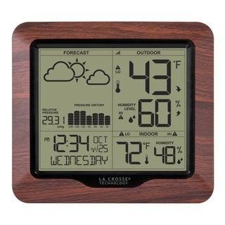 La Crosse Technology 308-1417BL Backlight Wireless Forecast Station with Pressure History