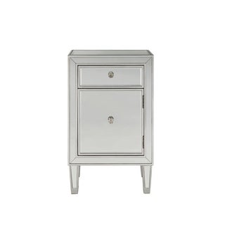 """Nighstand 1 drawer 18""""W x 13""""D x 29""""H in antique silver paint"""