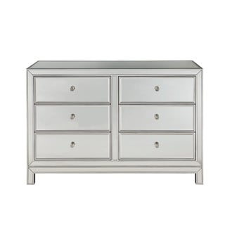 "Dresser 6 drawers 48""W x 18""D"" x 32""H in antique  silver paint"