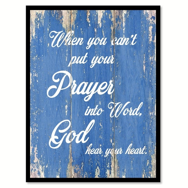 When You Can't Put Your Prayer Into Word Quote Saying Canvas Print Picture Frame Home Decor Wall Art