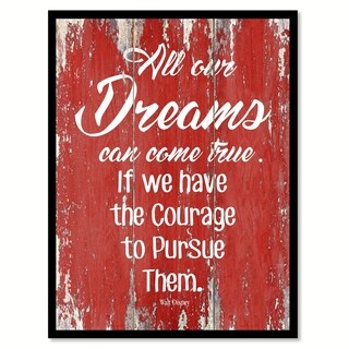 All Our Dreams Can Come True Walt Disney Inspirational Quote Saying Canvas Print Picture Frame Home Decor Wall Art