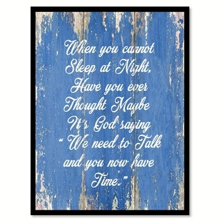 When You Cannot Sleep At Night Quote Saying Canvas Print Picture Frame Home Decor Wall Art