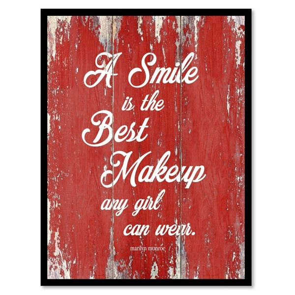 Shop A Smile Is The Best Makeup Marilyn Monroe Inspirational Quote