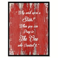 Why Wish Upon A Star Quote Saying Canvas Print Picture Frame Home Decor Wall Art