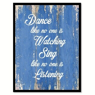 Dance Like No One Is Watching Inspirational Saying Canvas Print Picture Frame Home Decor Wall Art