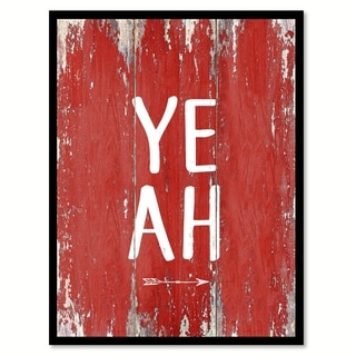 Yeah Quote Saying Canvas Print Picture Frame Home Decor Wall Art