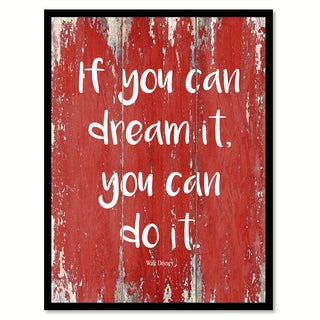 If You Can Dream It You Can Do It Walt Disney Motivation Quote Saying Canvas Print Picture Frame Home Decor Wall Art