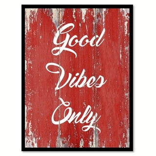 Good Vibes Only Quote Saying Canvas Print Picture Frame Home Decor Wall Art (4 options available)