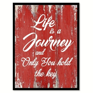 Life Is A Journey Motivation Quote Saying Canvas Print Picture Frame Home Decor Wall Art