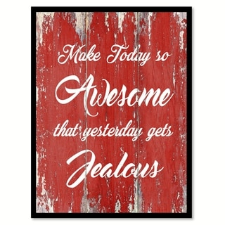 Make Today So Awesome Motivation Quote Saying Canvas Print Picture Frame Home Decor Wall Art