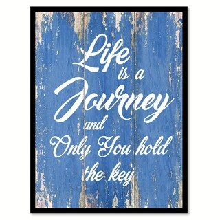 Life Is A Journey Canvas Print Picture Frame Home Decor Wall Art