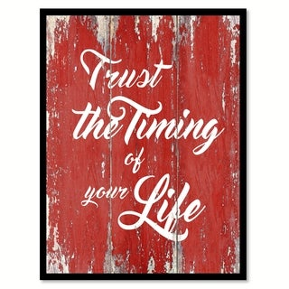 Trust The Timing Of Your Life Motivation Saying Canvas Print Picture Frame Home Decor Wall Art